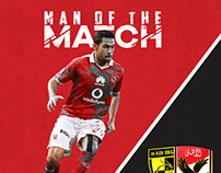 Ahli vs Degla Man of the Match Ahmed Fathi
