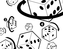 Dice Anatomy - Pattern and localized design for print