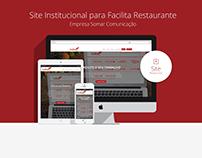 Site Institucional para Facilita - Somar Comunicação