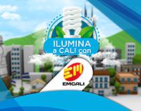 """Instalación interactiva """"Ilumina a Cali con EMCALI"""""""