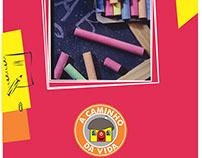 Catálogo para a escola A Caminho da Vida (8 páginas)