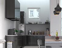 Render propuesta de diseño (cocina)