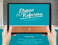 Hotsite Etapas da Reforma | C&C Casa e Construção