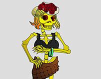 Lady in skeleton