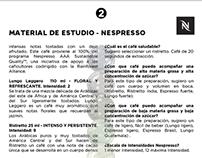 Nespresso, material de estudio para garzones y baristas