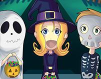 Ilustracion infantil Halloween