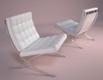 Modelagem cadeira Barcelona