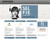"Projeto ""Selfie Startup"" - Site Gizmodo"