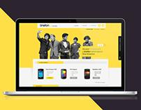 Unefon Store. Design Concept