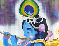 """Krshna playing flute: Haribol"" Producción Graffiti"