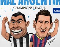 Caricaturas deportivas/sports cartoon- Tyc Sports