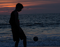 Playing sunset