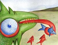 Ilustración infantil en acuarela