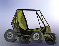 Modelo para armar con papel vehículo tipo BAJA