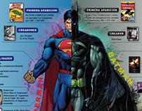 Infographic 2.0: Superman & Batman