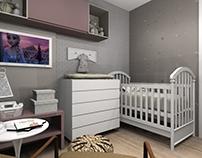 Ilustração Quarto Bebê - Projeto: Luana Valgas