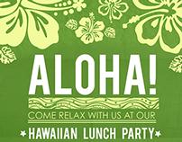 Aloha - Hawaiian Lunch Party - HCA invitation