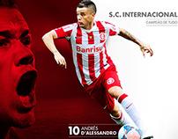 Poster Andrés D'Alessandro Sport Club Internacional