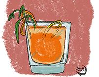 Ilustración para cuento sobre trago.