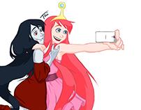 Selfie Jujuba e Marceline