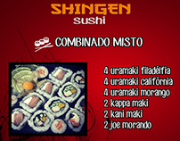 Social Midia Shingen Sushi Delivery
