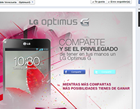 App Optimus G (LG) - Facebook