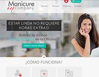 Manicure in Company website