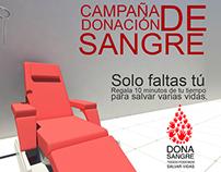 Volante Promocional Proyecto DONA SANGRE