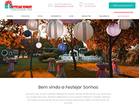 Layout do site Festejar Sonhos