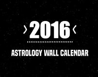Astrology Wall Calendar / 2016