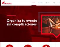 Diseño de página web para eventos opc