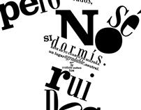 Afiche tipográfico de una poesia