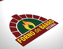 Redesign Logo Pizzaria Forno de Barro