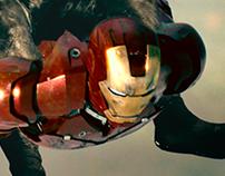 Iron man + Ducha Man: Fotomontaje