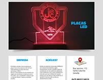 Website desenvolvido para empresa de Acrílicos