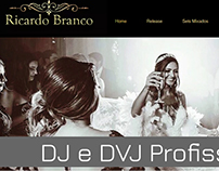 Web Design para Dj Ricardo Branco