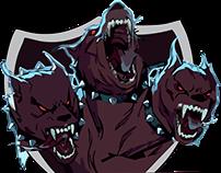 Logomarca e Estampa de Camiseta Cerberus Force eSports
