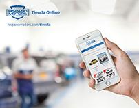 Responsive Ecommerce Site hispanomotors.com/tienda