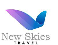 diseño del Logo y linea para el fanpage de New Skies