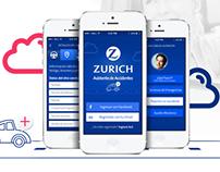 Maquetado Mobile de la App Zurich Seguros
