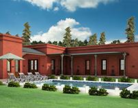 Modelado 3D Casa Quinta. G+G Estudio de Arquitura