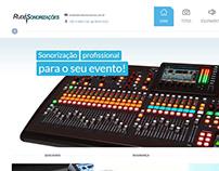 Site RudiSonorizações (www.rudisonorizacoes.com.br)