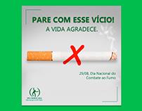 Dia Nacional do Combate ao Fumo - Redes sociais