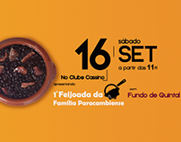 """Criação e Divulgação de evento """"1 Feijoada da Família"""""""
