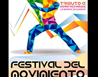 Diseño e ilustración de poster para festival de danza