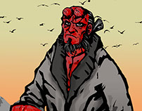 hellboy from beach city