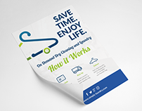 Simple Laundry Marketing Material for Print