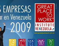 """Afiche """"Mejores empresas para trabajar en Venezuela"""""""