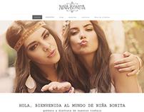 Diseño web Niña Bonita
