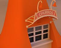 Churros Cone 3d